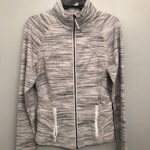 Lululemon light grey zip up (NEVER WORN)